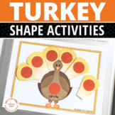 Turkey Shape Sorting Activity | Thanksgiving Shape Activities