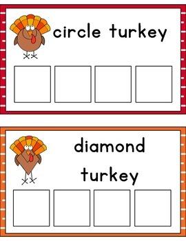 Turkey Shape Sorting
