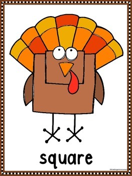 Turkey Shapes A Predictable Emergent Reader With Posters (Bundled)