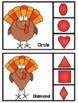 Turkey Shapes Clip Cards