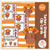 Turkey Shapes Clip Cards