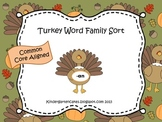 Turkey Short Vowel Word Family Sort