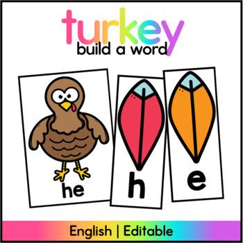 Turkey Sight Word Center / November Literacy Center