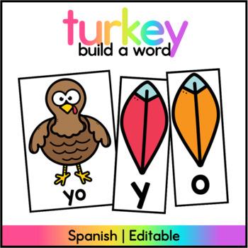 Turkey Sight Word Center Spanish / November Literacy Cente