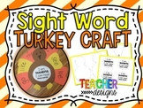 Turkey Sight Word Craft