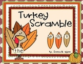 Turkey Sight Word Scramble