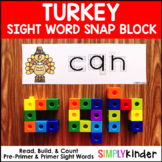 Turkey Sight Word Snap Block Center