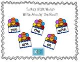 Turkey Sight Word Write Around The Room - Fry's First 100