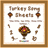 Turkey Math - Counting Sets Song Sheet