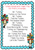 Turkey Songs and Finger Play for Pre-K
