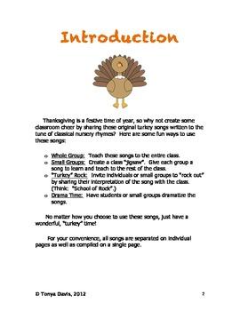 Turkey Songs for Thanksgiving Fun