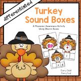 Thanksgiving Turkey Sound Boxes (CVC Words)