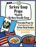 Turkey Soup Printable Props for Cultural Comparison Guatem