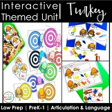 Interactive Thanksgiving Turkey Themed Speech Language Unit