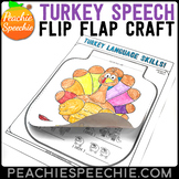 Turkey Speech and Language Flip Flap Crafts
