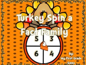 Turkey Spin a Fact Family - Freebie