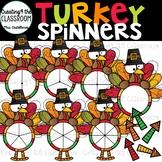 Turkey Spinners 1 Clip Art {Thanksgiving Clip Art}