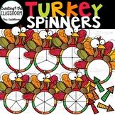 Turkey Spinners 2 Clip Art {Thanksgiving Clip Art}