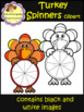 Turkey Spinners - Clip Art (School Designhcf)