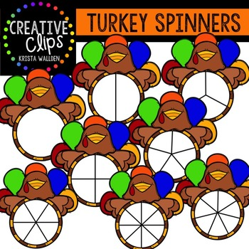 Turkey Spinners {Creative Clips Digital Clipart}