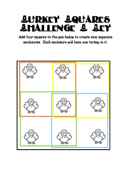 Turkey Squares Brain Teasers with Key