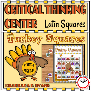 LATIN SQUARES Turkey Squares Critical Thinking GATE Differentiated