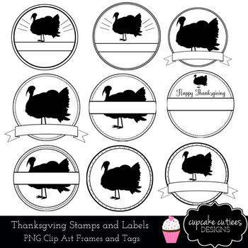 Turkey Stamp Overlay Clip Art Digital Graphics -Commercial Use