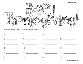 Turkey Starts with T - Thanksgiving Literacy & Math Centers