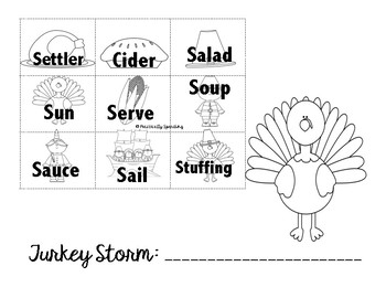 Turkey Storm - An Articulation Craftivity for /s/ in all positions