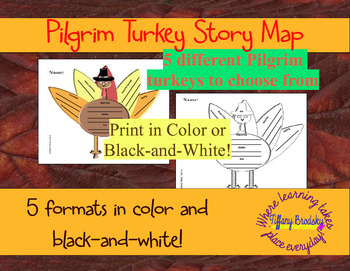 Turkey Graphic Organizers or Story Maps