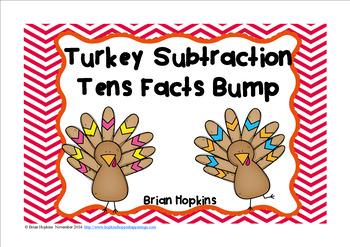 Turkey Subtraction 10 Facts Bump FREEBIE
