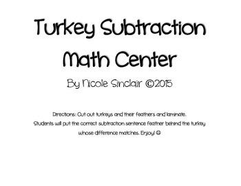 Turkey Subtraction Center