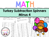 Turkey Subtraction Spinners Minus 4