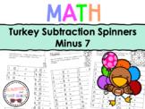 Turkey Subtraction Spinners Minus 7