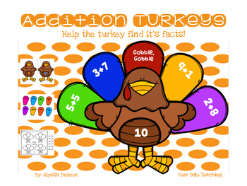 Turkey Sums {Addition Facts within 20}