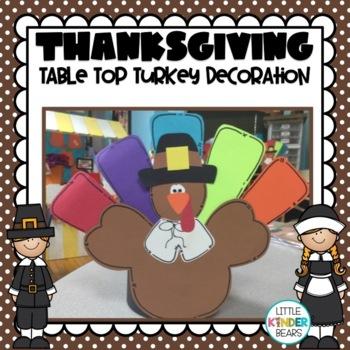 Turkey Table Top  Decoration Craft: Thanksgiving