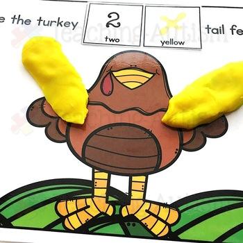 Turkey Tail Feather Play Dough Mats