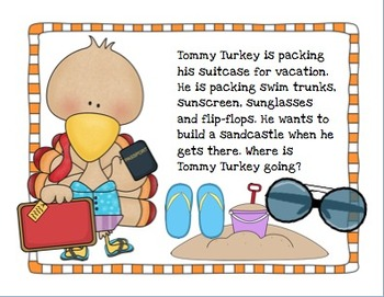 Turkey Takes a Vacation - Riddles to Improve Language and Inferencing Skills