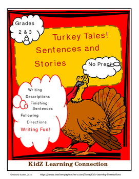 Thanksgiving Sentences and Stories