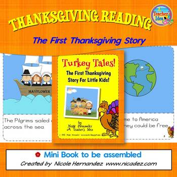 Thanksgiving Reading -Turkey Tales: The First Thanksgiving  Story for Kids