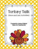 Turkey Talk {1 More 1 Less Math Activities}