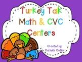 Turkey Talk 1st Grade Math & Literacy Centers (19+CCSS)