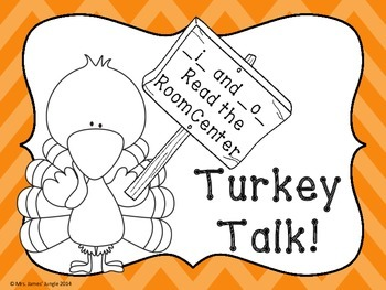 Turkey Talk - A Short i, Short o Read the Room Center