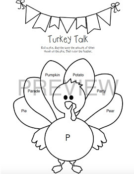 Turkey Talk Articulation