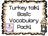 Turkey Talk Basic Vocabulary