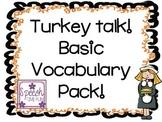 Turkey Talk Basic Vocabulary
