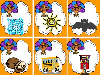 Turkey Talk CVC Centers (9 Common Core Centers)