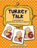 Turkey Talk Math Game for November (Greater Than, Less Tha