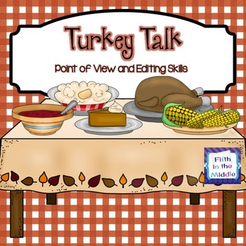 FREE Thanksgiving Point of View and Editing Task Cards
