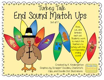 Turkey Talk Ending Sound Match Ups